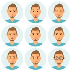 Businessman expresions avatars