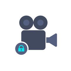 Cam camera film lock movie record icon