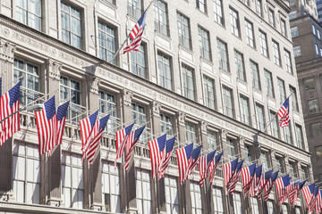American Flags in NYC
