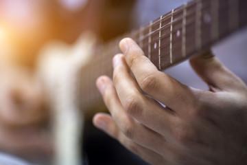 Finger On Guitar