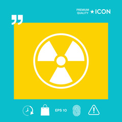 Ionizing radiation icon