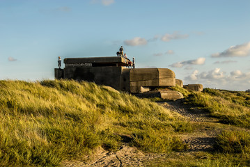 Six teenagers on a german bunker, located in the dunes near IJmuiden, the Netherlands.