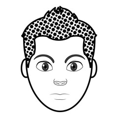 filling texture avatar man head with hairstyle design