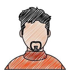 doodle avatar man with casual shirt and faceless