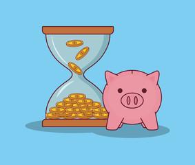 money hourglass design