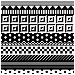 Geometric ornaments on a square tile
