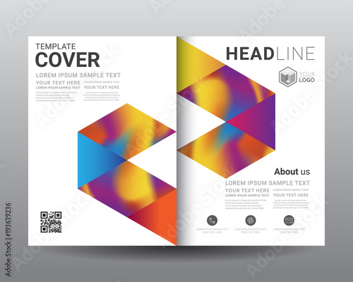 Business Bi Fold Brochure Templates, Fold Leaflet, Flyer, Magazine, Annual  Report