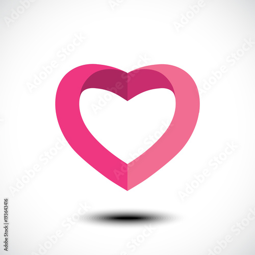 Heart Shape Symbol Design Vector Illustration Stock Image And