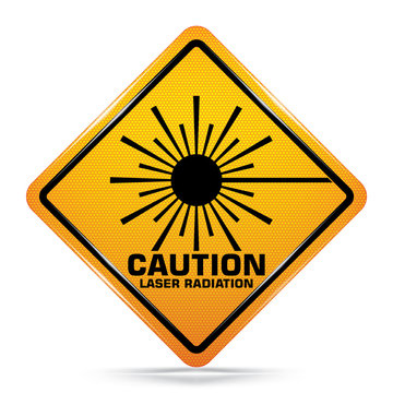 Laser Radiation signs on white background, Attracting attention,Compulsory, Control ,practice, Security first sign, Idea for graphic,web design,EPS10.