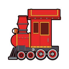 Train toy cartoon vector illustration graphic design