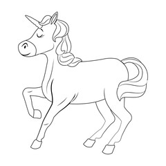 Cute unicorn cartoon vector illustration graphic design