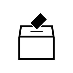 Ballot box vector icon