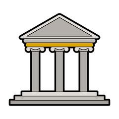 Greek building symbol vector illustration graphic design