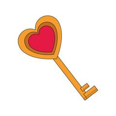 Love key symbol vector illustration graphic design