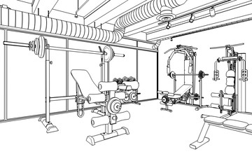 Weight Room (drawing)