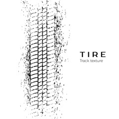 Tire track impression. Print of a tire in the mud. Vector illustration isolated on white background