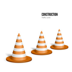 Traffic cone. Construction concept. Vector illustration isolated on white background