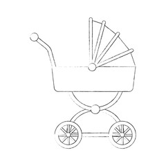 Baby carriage isolated icon vector illustration graphic design