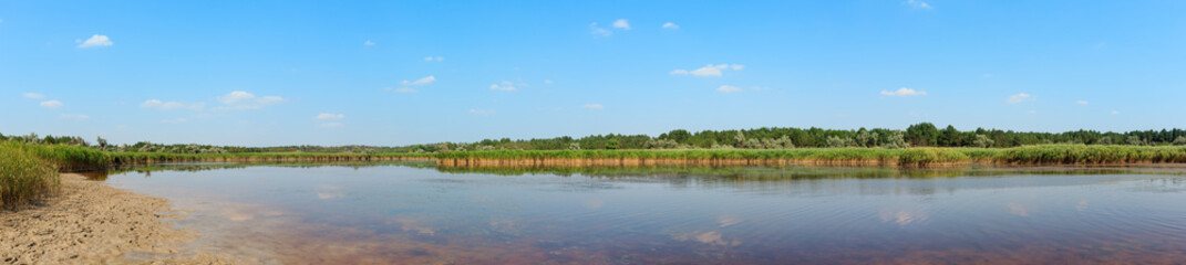 Summer iodine lake with a therapeutic effect thanks to the high content of iodine, Ukraine