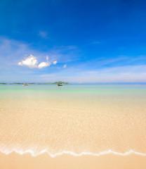 beach sand with blue sky