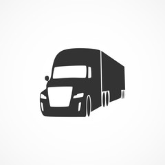 Vector image of truck icon.
