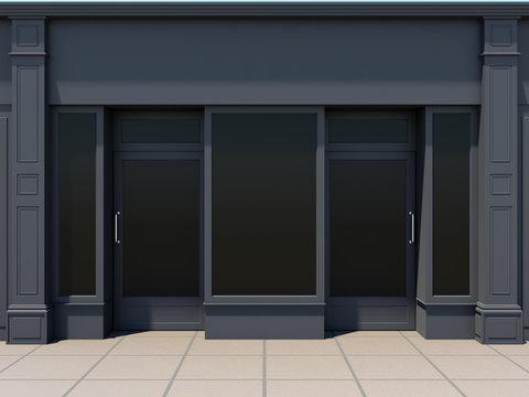 Classic shopfront in the sun - classic store front