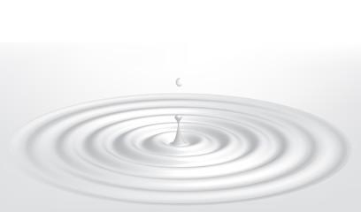 Milk splash. vector illustration