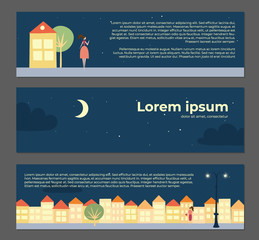 Vector landscape with text place