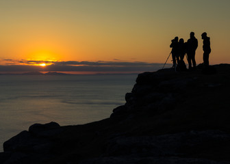 Photographers at Neist Point