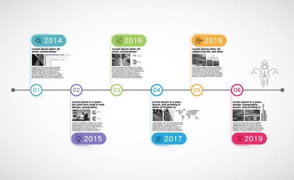 Milestone Company, Infographic Vector.