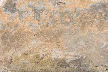 Wall Murals Old dirty textured wall Wall fragment with scratches and cracks