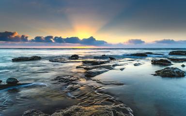 Sunrise Seascape and Sun Rays