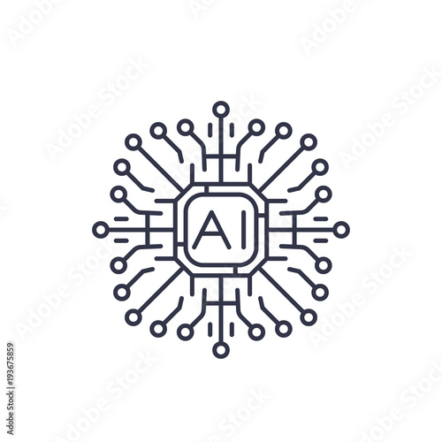 Artificial Intelligence Ai Icon Stock Image And Royalty Free