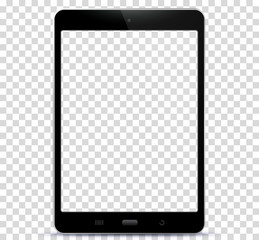 Transparent Black Tablet Computer Vector Illustration
