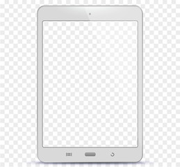 Transparent White Tablet Computer Vector Illustration