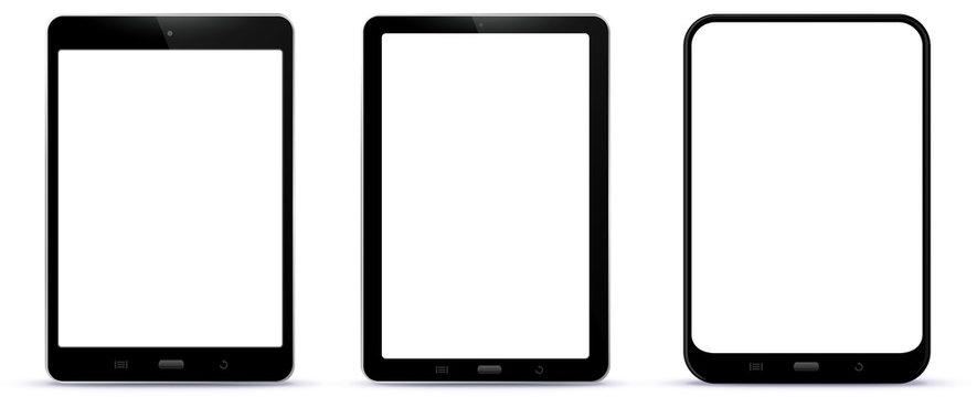 Set of Black Tablet Computers