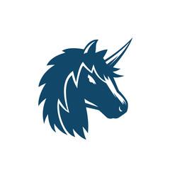 unicorn vector logo on white
