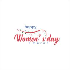 Happy Women's Day Vector Template Design