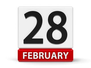 Cubes calendar 28th February