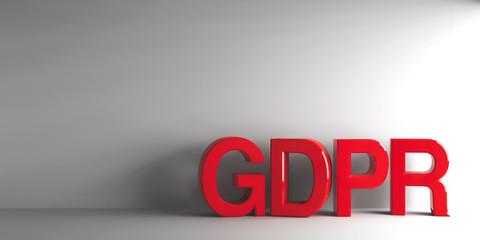 Red word GDPR
