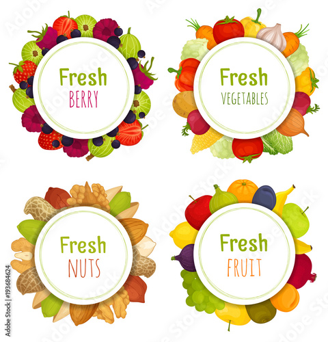 Set of round vector frames on a theme of meal. Frames from ...