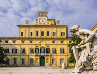 Stunning view of Ducal garden's palace, Parma, Italy