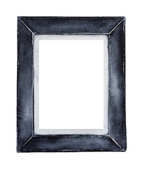 Decorative square picture frame. Use as mock up, clip art, exhibition, image, room decor, album, banner, postcard, poster element. Hand drawn water color graphic painting on white background, cut out.