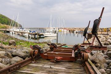 Hafen in Lohme auf der Insel Rügen