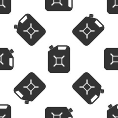 Canister for gasoline icon seamless pattern on white background. Diesel gas icon. Flat design. Vector Illustration