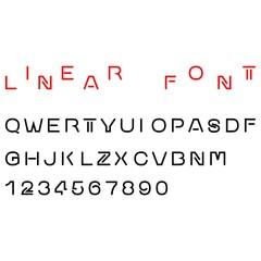 Linear Font. Art design. Vector