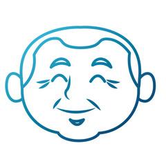 Cute grandfather cartoon icon vector illustration graphic design