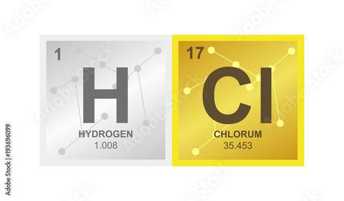 Vector Symbol Of Hydrochloric Acid Or Hydrogen Chloride Which