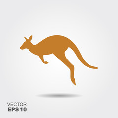 Kangaroo Icon Vector. Simple flat symbol
