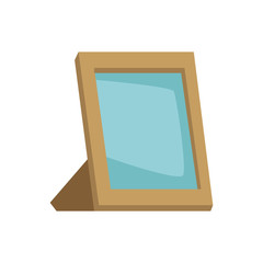 Blank picture frame icon vector illustration graphic design